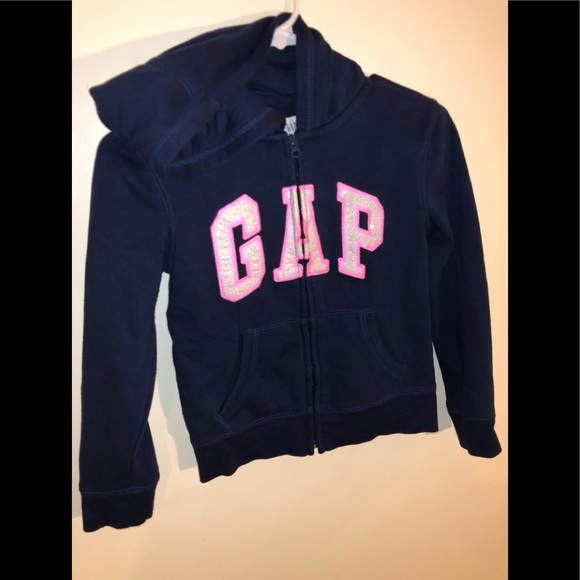 Gap Hoodie Full Zip Sweatshirt Youth Girls Size 8